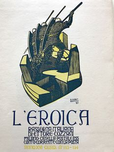 L'Eroica Issue 113 and 114 year 1928 of the collection Fondo Ettore Cozzani