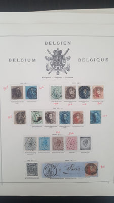 Belgium 1849/1980 – Collection on pages
