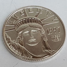 United States - 25 Dollars 1997 'Eagle' - ¼oz Platinum