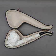 "Large figurative meerschaum pipe, ""Bacchus"" - Turkey, ca. 1970"