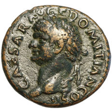 Roman Empire - DOMITIAN (81-96) AE As, Rome, Pax