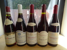 Great lot of 5 Burgundy wines of the 90ies
