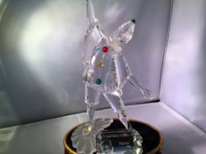 Swarovski Pierrot with Display and Title Plaque