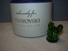Swarovski - Silver Crystal Replica Green Mouse, limited edition 2017.
