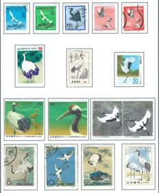 Birds – Theme collection: cranes, coots, bustards, etc., in album