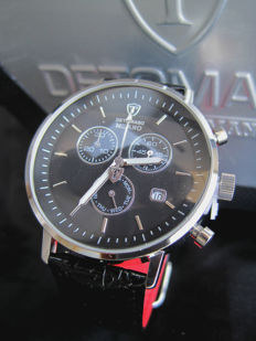 Detomaso Milano Black DT1052-A Chronograph  - Men's Wristwatch - New