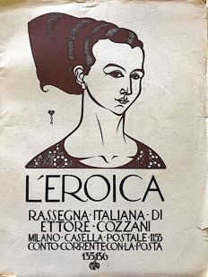 L'Eroica Issues no. 135 and 136 year 1929 of the Collection Fondo Ettore Cozzani