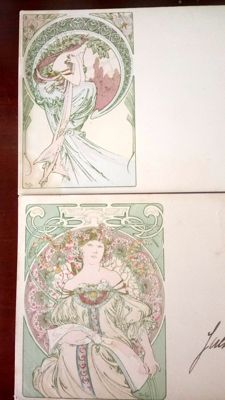 Postcard after Alphonse Mucha