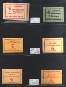 Denmark - Collection of booklets from H 22 to H 56