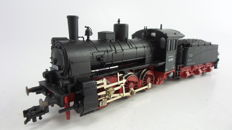 "Fleischmann H0 - 4124 - Steam locomotive with towed tender  ""G4""  BR 53 of the DRG"