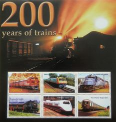Thematic - Trains collection in stockbook