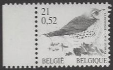 OBP no. 2987 21F / 0.52€ Kramsvogel (Fieldfare) - was only printed in BLACK