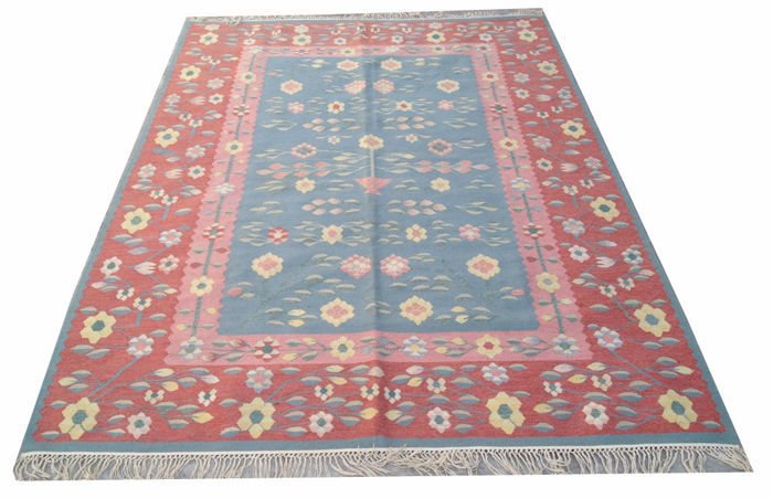 Amazing Hand Woven Turkish Kilim Carpet Area Rug 222 cm x 156 cm