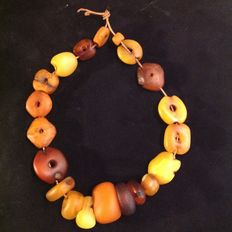 Old Mauritanian amber beads