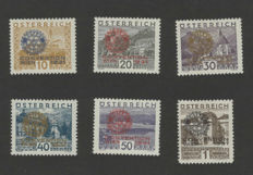 Austria 1925/1931 - selection with, among others, Rotary overprints.