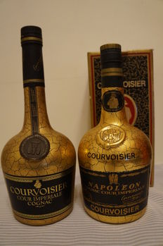 Two Different Periods of Cognac Courvoisier Cour Imperiale Grande Champagne