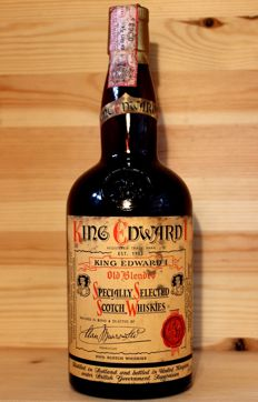 King Edward I Old blended Specially Selected Scotch Whiskies, Clan Munro, 1960s-1970s, 43%vol. 75cl