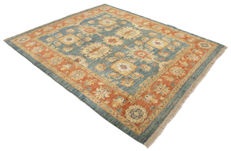 (Size 230 x 200 cm) Original Zigler rug – hand-knotted – double knot – knotted in (Pakistan / Afghanistan) – with certificate of authenticity – GalleriaFarah1970