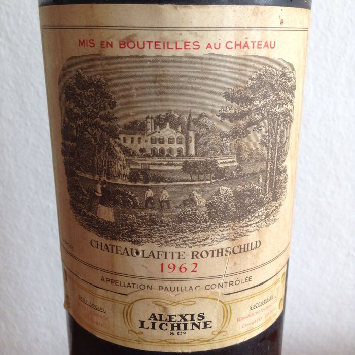 1962 chateau lafite rothschild pauillac 1 bottle catawiki. Black Bedroom Furniture Sets. Home Design Ideas