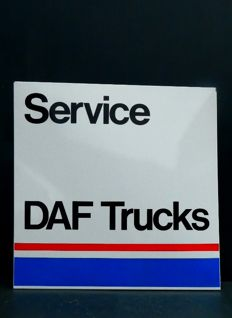 DAF Trucks Service Dealer sign ca.1970