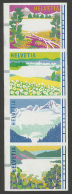 Switzerland 1996 - Landscapes during the four seasons - Michel ATM 11/14 with value indication