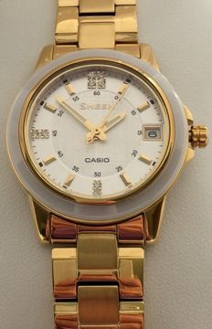 Casio Sheen .Women's Swarovski crystal watch. Unworn.