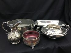Lot of 5 different antique items, England, Nineteenth century