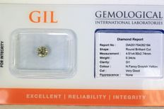 Diamant  0.34 ct - SI1 - Fancy Greenish Yellow
