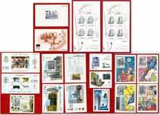 Spain 1986/2005 - lot of 18 official proofs F.N.M.T. - Edifil number 10/14/58/59/61/62/64/66/74/81/82/84/86/87/88/89 + Ships of Spain 1995.
