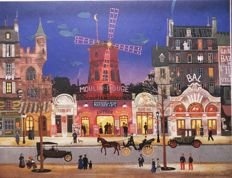 Michel Delacroix  - Paris : Devant le Moulin Rouge & Le Quartier Latin