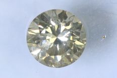 Diamant  0.38 ct - SI2 - Fancy Yellowish Gray - Zonder Reserve Prijs