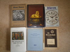 Lot of 6 books about clocks - 1905-1922