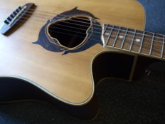 New Luna Oracle Series Dolphin model electro-acoustic guitar