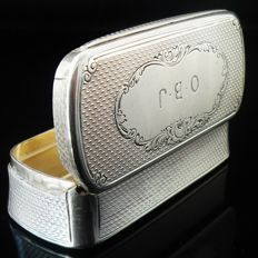 Antique Silver Snuff Box, Birmingham 1873