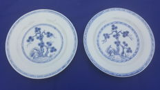 Pair of porcelain plates - China - 18th century.