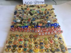 Large collection of over 300 pins transport