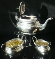 3 Piece Silver Tea Set, Sheffield 1931, Emile Viner