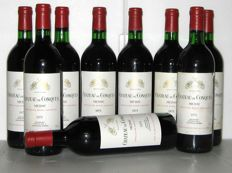 1975 Château de Conques, Médoc – Lot of 9 bottles.