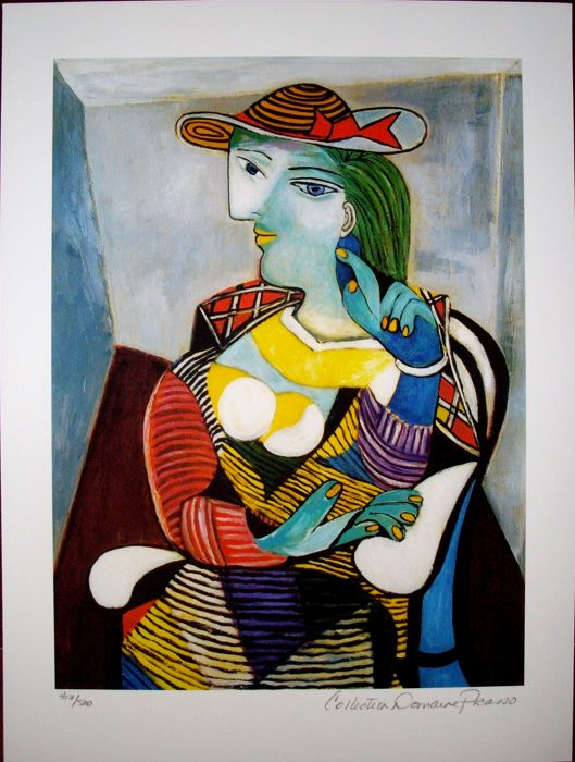Pablo Picasso (after) - Portrait of Marie Therese Walter. - Catawiki