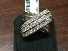 Crivelli - Large ring with diamonds totalling 2.90 ct (F / VVS1) - Size: 14.