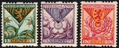 The Netherlands 1925 – Children's  stamps, syncopated perforation – NVPH R71/R73