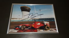 Jules Bianchi (1989-2015) - original signed photo 13x18cm - 2011 Abu Dhabi test.