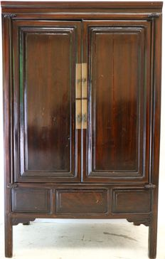 Mahogany Chinese cupboard – late 20th century