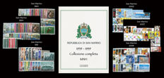 San Marino, 1959-1999 – Surface mail complete collection – 41 year's issues