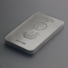 Cook Islands coin bar - 2015 - 999 silver bar - fine silver - 100 grams with certificate