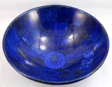 Hand-crafted Royal Blue Lapis Lazuli bowl - 150 x 70 mm - 410 gr