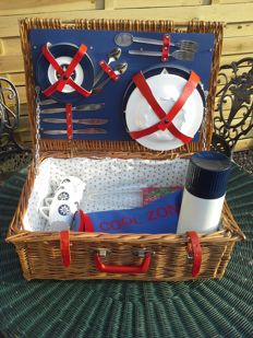 Complete Picknick Mand Brexton Collection,hand made Engeland.