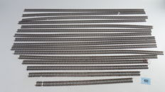 Märklin H0 - 2205 - 16x Flex K rails, of which 11 x 900 mm and 5 x between 820 and 500 mm