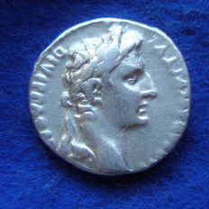 Roman Empire - Denarius of August (27 B.C. - 14 A.D.), from Lyon (P537)