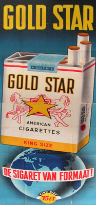 Anonymous - Gold Star. a cigarette of stature - ca. 1970